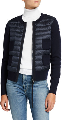 Moncler Down and Knit Combo Cardigan