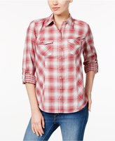 Style&Co. Style & Co Petite Cotton Mixed-Plaid Shirt, Only at Macy's