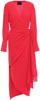 Mother of Pearl Velda Asymmetric Crepe Wrap Dress