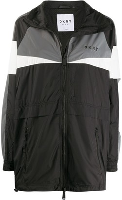 DKNY Embroidered Logo Windbreaker