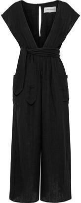 Mara Hoffman Whitney Belted Cotton-gauze Wide-leg Jumpsuit