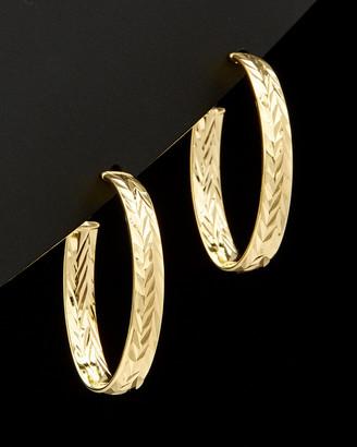 Italian Gold 14K Diamond Cut Earrings
