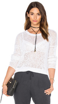 James Perse Open Stitch Cotton Crew Neck Sweater