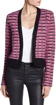 Juicy Couture Tweed Chain Lined Cardigan