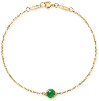 Tiffany & Co. Elsa Peretti Cabochon bracelet in 18k gold with green jade