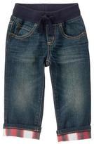 Gymboree Plaid-Cuff Jeans