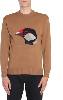 Lanvin Bird Print Knitted Sweater