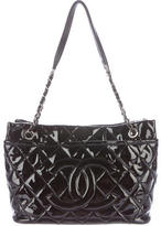 Chanel Quilted Patent Leather Timeless Shopper Tote