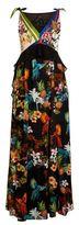 Pinko Tropical Print Maxi Dress