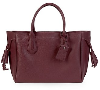 Longchamp Penelope Pebbled Leather Double Top Handle Bag