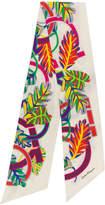 Salvatore Ferragamo Tropical Gancini print scarf