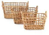 Home Essentials Three-Piece Wicker Basket Set