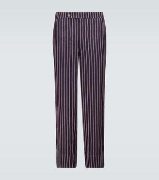 Bode Mashroo striped straight-fit pants
