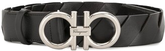 Salvatore Ferragamo Braided Logo Belt