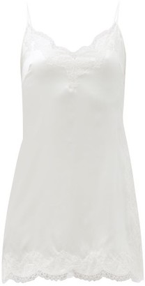 Agent Provocateur Amelea Lace-trim Silk-blend Slip Nightdress - Ivory