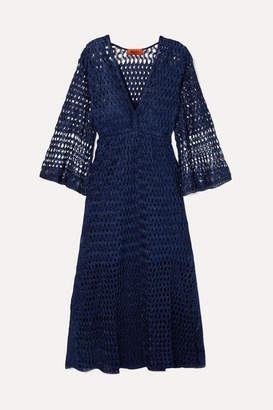 Missoni Reversible Metallic Crochet-knit Dress - Navy
