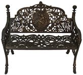 Channel Enterprises Patio Benches Cameo Iron Bench, Large