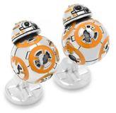 Cufflinks Inc. Cufflinks, Inc Star Wars Silvertone 3D BB-8 Cuff Links