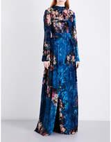 Alberta Ferretti Floral devoré velvet gown