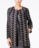 Alfani PRIMA Houndstooth Jacquard Jacket, Only at Macy's
