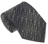 Missoni U3424 Black/silver Novelty 100% Silk Tie.