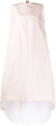 Thom Browne Layered Detail Seersucker Dress