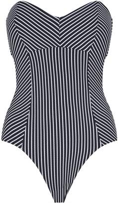 Seafolly Bandeau Striped Swimsuit