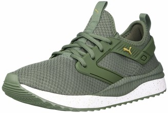 Puma Women's Pacer Sneaker Thyme White Numeric_7_Point_5
