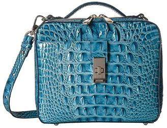 Brahmin Melbourne Evie Satchel (Lagoon) Satchel Handbags