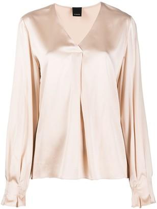 Pinko V-neck silk-blend top