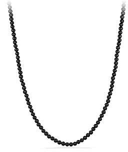 David Yurman Men's Spiritual Bead Black Onyx Necklace