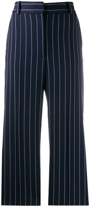 See by Chloe Cropped Pinstripe Trousers