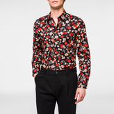 Paul Smith Men's Tailored-Fit Black 'Wild Floral' Print Shirt