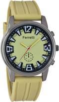 Ferretti Men's   Mustard Dial & Rubber Band Watch   FT12103