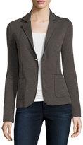 Majestic Double-Face Cotton/Cashmere One-Button Blazer