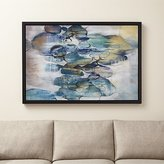 Crate & Barrel Turquoise Assemblage Print