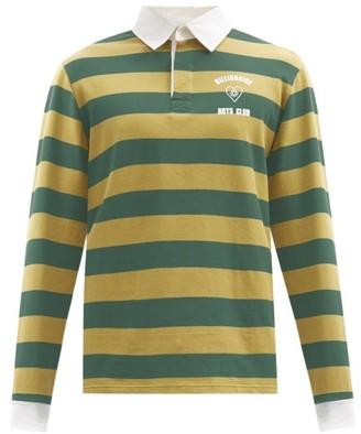 Billionaire Boys Club Logo-print Striped Cotton-jersey Rugby Shirt - Green