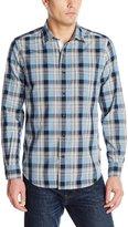 Nautica Men's Plaid Chambray Shirt