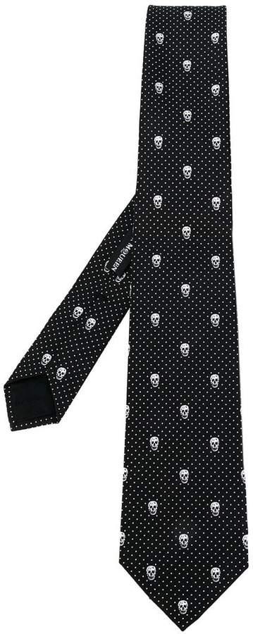 Alexander McQueen skull-print tie