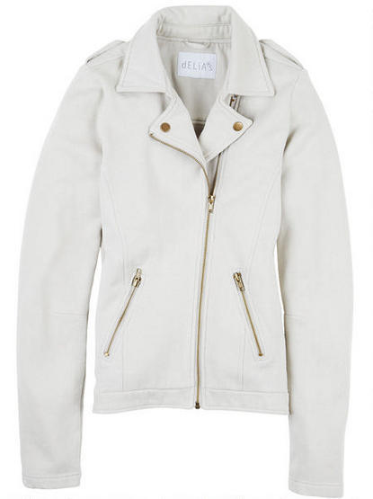 Delia's Fleece Collar Notch Moto Jacket