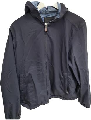Prada Navy Polyester Coats