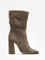 Halston Nicole Suede High Heel Soft Mid-Calf Boots