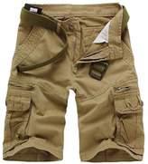 Cukke Mens Cargo Shorts Multi Pockets Short Summer Pants (36,)