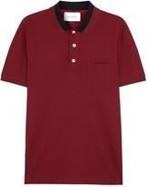 Gucci Burgundy Stretch Piqué Cotton Polo Shirt