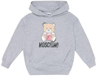 MOSCHINO BAMBINO Stretch-cotton hoodie