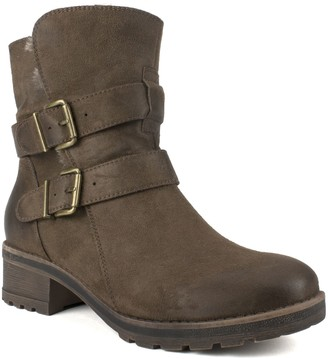 White Mountain Moto Style Ankle Booties - Chastity