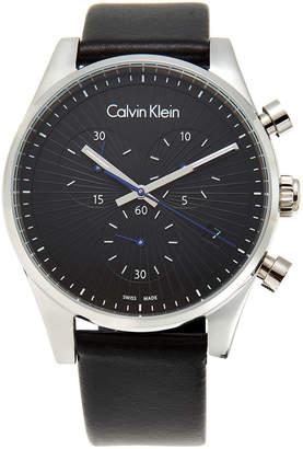 Calvin Klein K8S271C1 Silver-Tone & Black Steadfast Watch