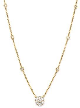 Bloomingdale's Diamond Cluster Pendant Necklace in 14K Yellow Gold, 0.75 ct. t.w. - 100% Exclusive