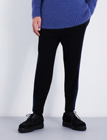 Stella McCartney Striped-sides wool jogging bottoms
