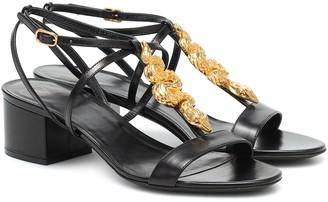 Valentino Maison Snake leather sandals